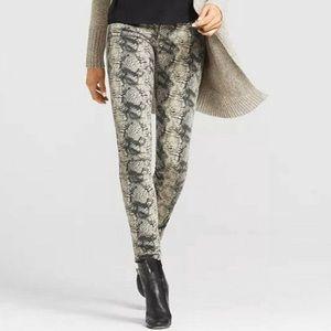 CAbi Diamondback Snakeskin Print Skinny Pants 2